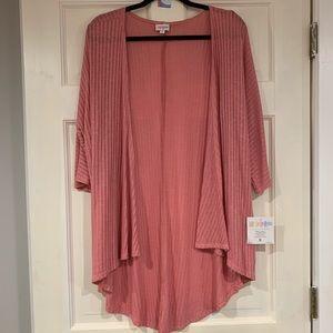 LuLaRoe pink Lindsay kimono / cardigan  S NWT